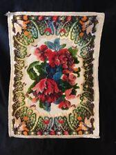 '20's Italian Tapestry Doily. Ornate Romantic Design. Frills, Roses 11.5 x 8.5 B