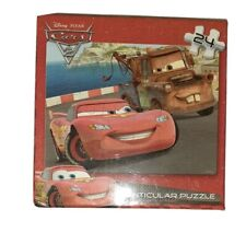 Disney Cars Lenticular Puzzle 24 Peices NEW in unopened Package. 12 X 9 inches.