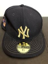 New Era 59Fifty New York Yankees Gold Lettering Chromafitted Cap Size 7 3/8