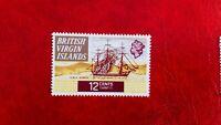 1970 QE11 BRITISH VIRGIN ISLANDS 12c MINT HINGED POSTAGE STAMP