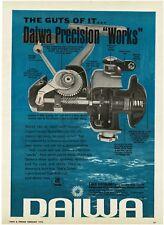 1970 DAIWA 8600 Spinning Fishing Reel Cutaway View PRINT AD