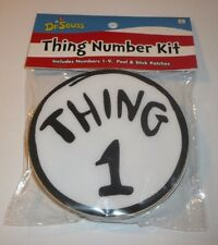 Dr Seuss Thing Number Kit Set of 9 Peel & Stick Patches For 1 2 3 4 5 6 7 8 9