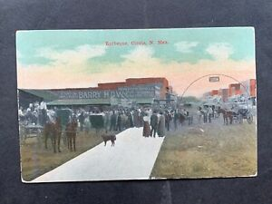 c1908 CLOVIS NEW MEXICO BARBEQUE ! BARRY HDW CANTON IMPLEMENTS MONITOR WINDMILLS