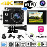 2'' HD 4K 16MP Waterproof Sports WiFi Action Camera Car Cam DV Video Recorder UK