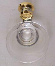 VINTAGE KOHLER CYGNET CRYSTAL SOAP DISH 6779 POLISHED GOLD & CHROME - NOS in Box