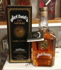 Jack Daniels 1915 Gold Medal with Box & Tag signed by 2 Masters