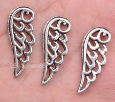wholesale 30pcs tibetan silver wing Charm Pendant Fit necklace 24mm