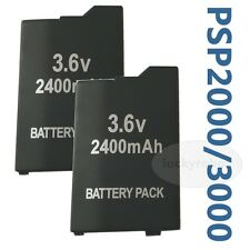 2pcs 2400 mAH new Rechargeable Battery Pack FOR PSP 3000 Lite Extended life