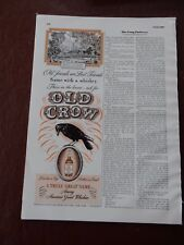 OLD CROW WHISKEY KENTUCKY  ADVERT  WW2 ! -   FANTASTIC ESQUIRE PAGE  VGC 1941