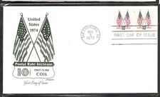 US SC # 1519 Crossed Flags FDC. Artmaster Cachet. 1