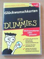 Glückwunschkarten für Dummies (CD-ROM), ZUSTAND SEHR GUT! (Ab Windows 95)