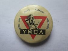 WORLD WAR I BADGE YMCA WITH BOYS ALWAYS EVERWHERE AUSTRALIA FUND RAISING c1918