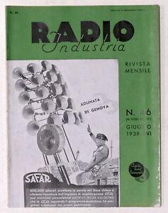 Rivista mensile di Radiotecnica - Radio Industria N. 46 - Giugno 1938