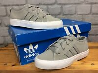 ADIDAS OG UK 2 EU 34 NIZZA LO GREY WHITE TRAINERS GIRLS BOYS GIRLS CHILDRENS LG