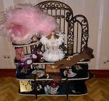 Dolls house ladies boudoir shelves with accessories