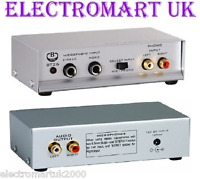 PHONO RCA TURNTABLE MIC MICROPHONE PRE AMP AMPLIFIER INC MAINS POWER ADAPTOR