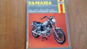 YAMAHA XV750, XV920 & TR1 V TWINS HAYNES MANUAL 1981-85