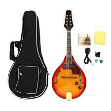 Quality Wood A Style 8 String Mandolin Electric Mandolin Sunburst w/Gig Bag Gift