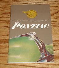 1948 Pontiac Owners Operators Manual Service Guide 48