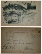 Cartolina di Bagni Vignoni (San Quirico d'Orcia), vedutine animata viagg. 1905..