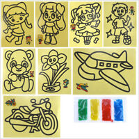 10Set Color Sand Painting Classical Learning And Educational Children's Toy HT