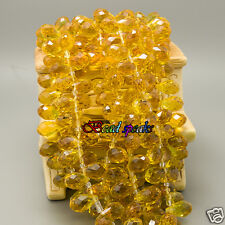30 Pcs Orange Yellow Top-drill Faceted Teardrop Glass Crystal Beads 13×8mm-CH239