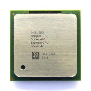 Intel Pentium 4 SL66R 2GHz/512KB/400MHz FSB Prise/Socle PPGA478 Processeur /