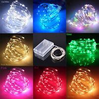 20/30/50/100 LED Battery Micro Rice Wire Copper Fairy String Lights Party Lamp K