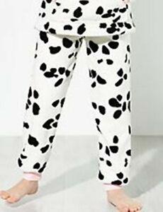 John Lewis Children's Pyjama BOTTOMS ONLY AGE Dalmatian Fleece 5 Years BRAND NEW