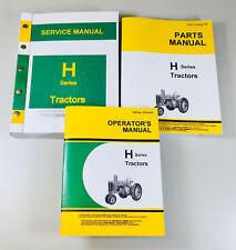 John Deere H Hn Hnh Hwh Tractor Service Manual Set Parts Operators Catalog Books