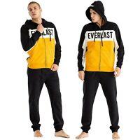 Tuta uomo sport Everlast completo felpa pantalone sportivo con cappuccio felpata