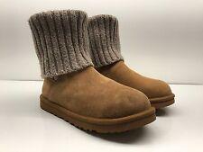 $169 UGG Australia Cambridge UGGpure Lined Knit Boot chestnut size 8 NWD