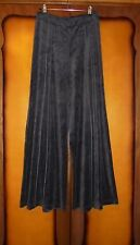 ART Ateliers Rare Toggery Velour Velvet Wide Leg Trousers Size S; UK10 Lagenlook