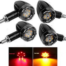 4x Motorcycle LED Bullet Brake Running Turn Signal Tail Light For Bobber Racer