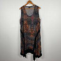 TS Taking Shape Womens Dress 18 Plus Multicoloured Floral Sleeveless