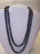 black pearl necklace 48inch Aa 14K Clasp Aa+ 8-9mm tahitian