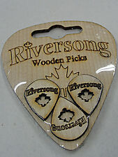 RIVERSONG WOODEN GUITAR PICKS 2.0MM JAZZ SOLID MAPLE MADE IN CANADA 3 PICK PACK