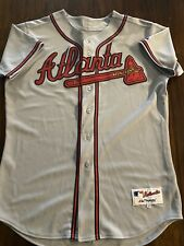 Majestic Authentic MLB Atlanta Braves Grey Road Jersey Mens 48 Used