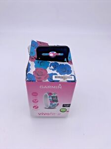 Garmin Vivofit JR Activity Tracker Real Flower Ages 4-9 Girls No Charger include