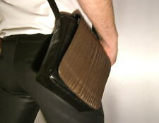 Sac en cuir shultertasche Citybag marron leather cross-Bag Shoulder Bag US