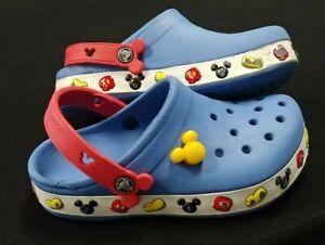 Disney Crocs Mickey Mouse Junior Clogs Blue Color - Size J2