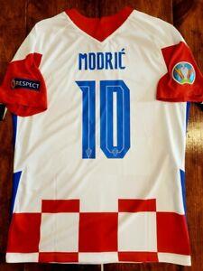 2020/21 Nike CROATIA #10 LUCA MODRIC EURO2020 Home Soccer Jersey Size Large