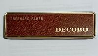 Vintage Eberhard Faber Decoro 1814 Wine Red Thin Lead Coloured Pencils 12 Pack