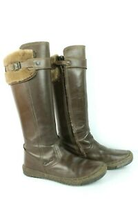 Leather Boots Brown Mod's T 37/UK 4 Very Good Condition