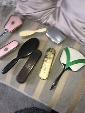 Job Lot Of Vintage Ladies VANITY Inc Mirrors, Brushes,