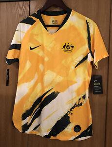 Nike 2019 Australia Stadium Home Womens Soccer Jersey Size L AJ4388-397