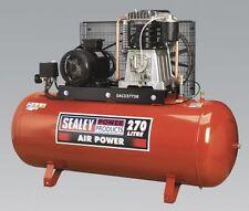 Sealey Tools SAC52775B Air Compressor 270 Litre 3 Phase 415v Belt Drive 7.5hp