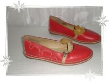 Chaussures  Ballerines Rouge Beige  Ecru  Fleur Kickers Pointure 37