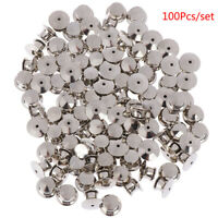 100Pcs/set  LOW PROFILE Locking Pin Backs Keepers for all Pin Post PinsXIJYL!Y