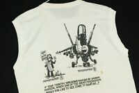 Vintage 90s Military Peacekeepers Funny Saddam Hussein T Shirt Desert Storm